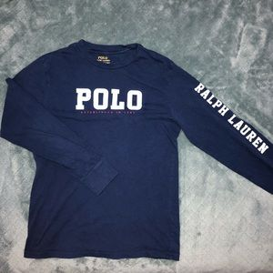 POLO by Ralph Lauren Spell Out Navy Long Sleeve L